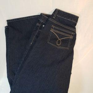 CALVIN KLEIN SIZE 16W FLARE dark wash jeans